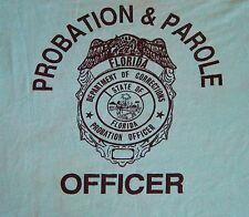 Vtg 80s Screen Stars Probation & Parole Officer Badge Florida Thin Tee T Shirt M