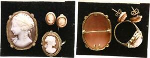Alemania Gemmenset 585 Anillo de Oro, Colgante, Pendientes, Anillo y Colgante