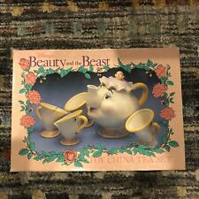 Vintage Disney Beauty and The Beast Mrs Potts Teapot and Cup Set Complete