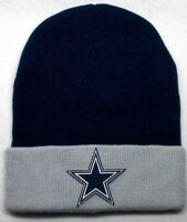 READ LISTING! Dallas Cowboys HEAT Applied Flat Logo on Beanie Knit Cap hat