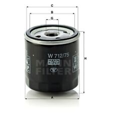 Mann W712/75 Oil Filter Spin On 79mm Height 76mm Outer Diameter Service