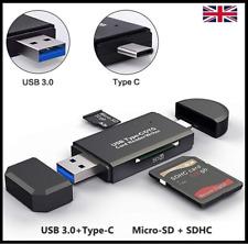 USB 3.0 Tipo C SD/Micro SD/TF de tipo C OTG Lector Adaptador SD Lector de Tarjeta Micro
