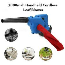 Cordless Leaf Blower Electric Hand Held 2000Mah Battery Powered Dust Sweepers