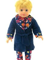 """18"""" Boy American Girl/Our Generation Dolls Clothes - Boys Dressing Gown."""