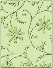 CUTTLEBUG A2 EMBOSSING FOLDER ~STYLIZED FLOWERS