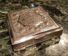 Old Persian Oriental silver box.  204 gram