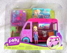 POLLY POCKET: POP UP GLAMPER (CARAVANA MIL SORPRESAS). 2009, RARA, NUEVA EN CAJA