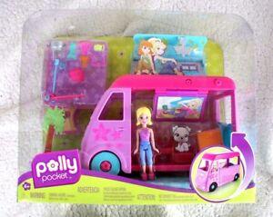POLLY POCKET: POP UP GLAMPER (CARAVANA MIL SORPRESAS). 2009, RARA, NUEVA EN CAJA