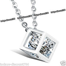 Rare Silver Crystal Necklace Love Xmas Birthday Gift For Her Wife Daughter Women