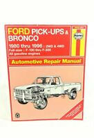 Haynes Ford Pick-ups Bronco 1980 to 1996 Automotive Repair Manual 36058 (880) PB