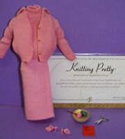 Barbie KNITTING PRETTY #957 COMPLETE PINK FASHION Vintage Reproduction REPRO