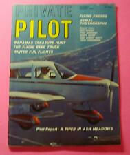 PRIVATE PILOT MAGAZINE JAN/1966..PILOT REPORT: A PIPER IN ASH MEADOWS..