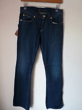 "SHARKAH CHAKRA BLUE BOOT CUT JEANS FAIRTRADE COTTON   W 27""  L33""   BNWT"