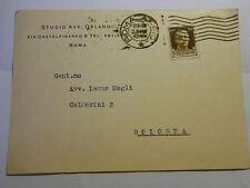 Cartolina Commerciale Avv. Orlandi Roma a Avv. Magli Bologna 1942 (180) ^