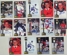 14 Vintage 1994 AUTOGRAPHED SIGNED #D HOCKEY PLAYER CARDS some NHL no Gretzky :)