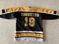 Vintage JOE THORNTON #19 Boston Bruins YOUTH  Hockey Jersey CCM - L/XL