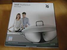 ♥ WMF profiselect ○ acero inoxidable wok -32 cm ○ - con tapa de cristal ○ transtherm suelo ○ olla ♥