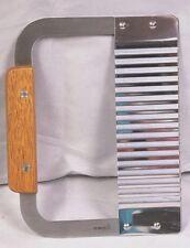 """7"""" Serrator Knife Krinkle Wavy Cut Potato Carrot Vegetable Cutter Wood Handle"""
