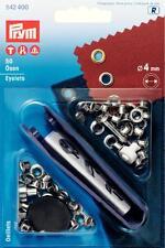 50 Ösen 4 mm silber Prym 542400 mit Werkzeug Gürtel Öse Niete Metall