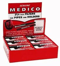 "10 Boxes Genuine Medico Tobacco Pipe&Cigar Holder Filter NEW 2 1/4"" 1200 Filters"