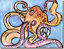 OCTOPUS PAINTING - INEXPENSIVE ORIGINAL ART - GREAT DEAL ON ORIGINALS