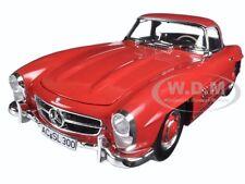 1957 MERCEDES 300 SL W198 RED W HARD TOP LTD 600pc 1/18 BY MINICHAMPS 180039041