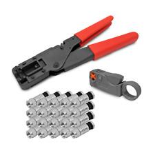 Kompressionszange F Kompressionsstecker Abisoliermesser 20x Stecker Crimpzange