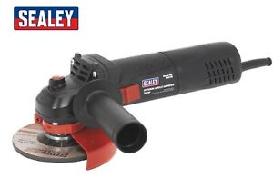 "SEALEY SGS115 750W 4.5"" 115MM SLIM ELECTRIC ANGLE GRINDER CUTTING TOOL 230V NEW"