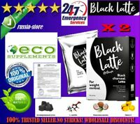 2X NEW Black Latte - dry drink Weight Loss Body Cleansing product 100% original