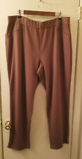 NWOT Onque Casual Women's Plus Size Knit Pants 2X Brown Stretchy Waist Pull On