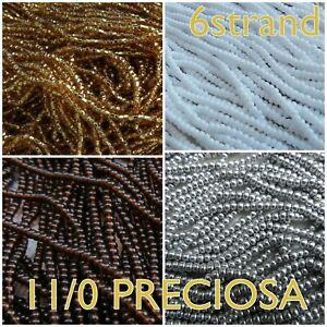 11/0 Preciosa Round Czech Seed Beads #00050-37186 6-strand (1/2 hank)