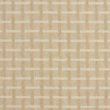 C458 Beige Geometric Checkered Upholstery Fabric By The Yard