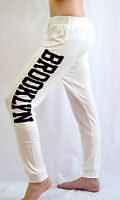 New Women's Ladies Brooklyn Print Harem Bottoms Joggers Pants SIZE UK 8-22