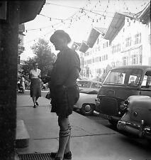AUTRICHE c.1959 - Autos Rue Tyrolien Kitzbühel  - Négatif 6 x 6 - Aut 106