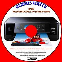 EPSON XP510 XP610 XP710 XP810 XP950 WASTE INK PAD COUNTER ENGINEERS RESET PCCD
