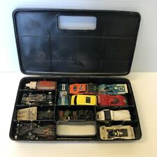 AFX Pit Kit Carrying case with car bodies, parts, Chassis fun Aurora AFX lot ex+