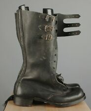 Vtg Men's Nos Post Wwii Belgian Army Tall Motorcycle Buckle Boots 10 43 7170s