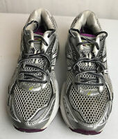 Asics Gel GT 2160 Women's Size US 7M Silver Purple Athletic Running Shoes T154N