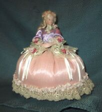 Marie Antoinette ? Arms Away Pincushion Doll *Bisque porcelain *Beautiful