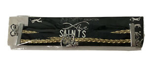 New Orleans Saints Infinity Collection Bracelet With Logo & Love Charms NFL NEW