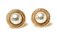 9ct Gold Pearl 13mm Stud earrings Gift boxed Made in UK