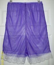 "Purple SHEER NYLON Pettipants LACY Sleep Shorts INSEAM 6"" * WAIST 32 - 48"""