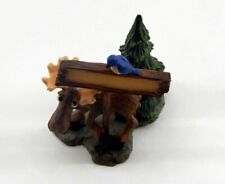 Big Sky Carvers Mountain Mooses Moose Holding Sign Mini Figurine New Ships Free