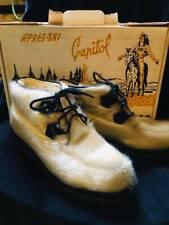 Vintage 50s 60s Capitol Canada Nos Fur Apres Ski Boots Unworn Size 7 with box