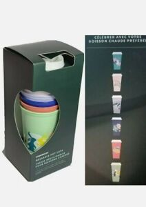Starbucks Spring 2021 Reusable Hoppy Hot Cup 6 Pack 16oz Easter- New in Box