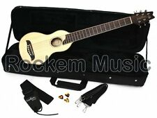 Washburn RO10 Rover Acoustic Travel Guitar With Hardcase Natural