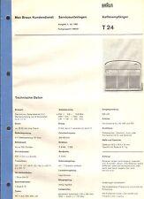 Braun Original Service Manual für Kofferempfänger T 24