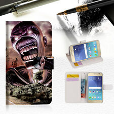 Iron Maiden TPU Wallet Case Cover For Samsung Galaxy J7 Prime- A014