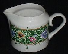 International Tableworks Creamer VELVET FACES Vtg 1994 Pansy Pansies