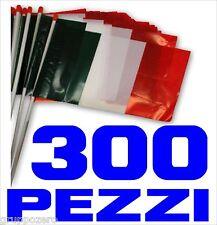EUROPEI CALCIO bandiera ITALIA plastica 300 PEZZI asta cm 30 x 20 COREOGRAFIA
